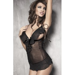 Anais Caprice Black Teddy and G-string