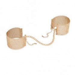Desir Metallique Gold Metallic Mesh Handcuffs