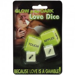 Glow in the dark - Paradice love dice