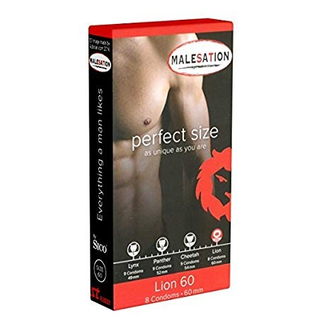 Malesation Lion Condoms 60mm - 9pcs