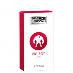 Secura Big Boy Condoms 60mm - 12pcs