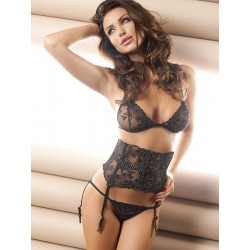 Anais Donna Floral Lace Matching Bra, Panty & Corset